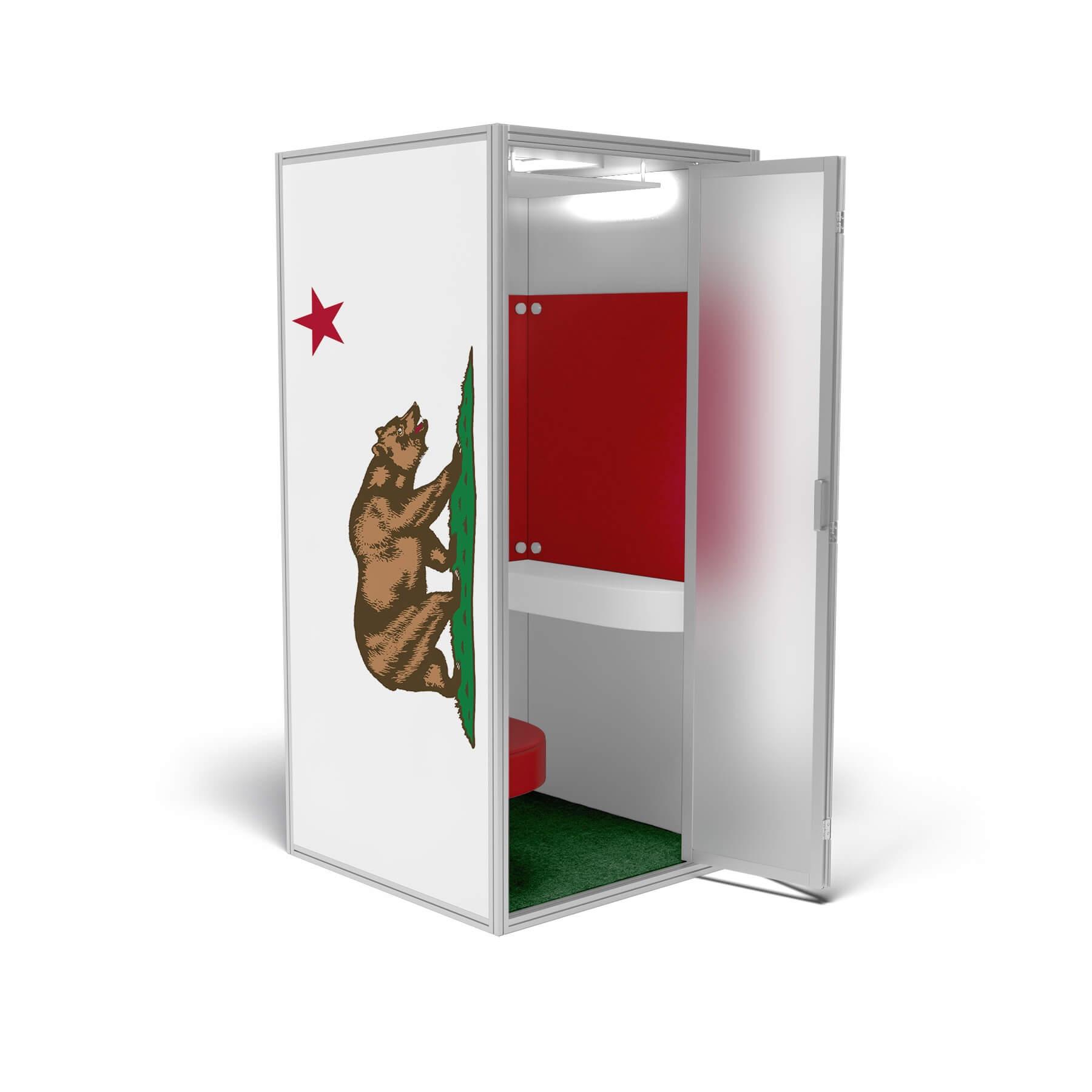 modern phone booth California edition