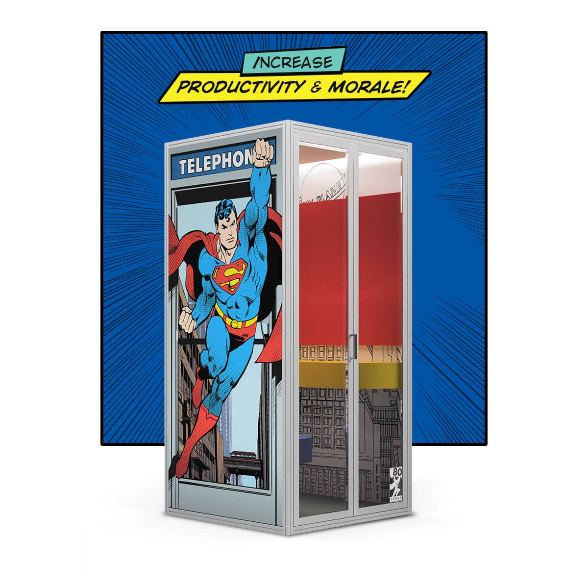 Superman Phone Booth Privacy Cubicall