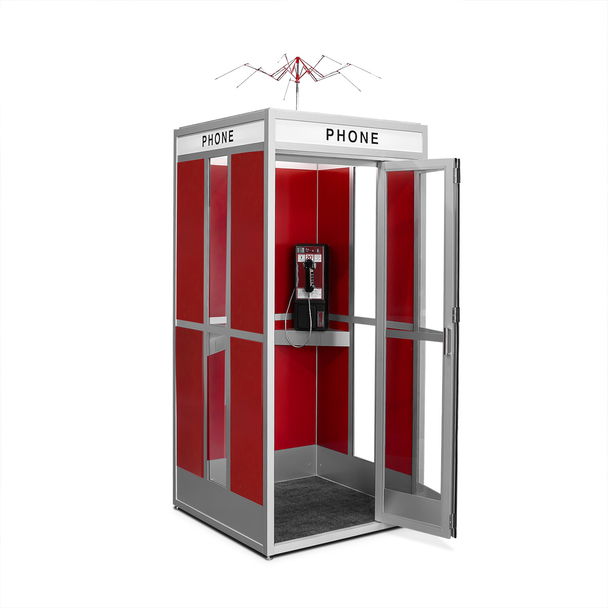 Cubicall Bill Ted PhoneBooth a-open
