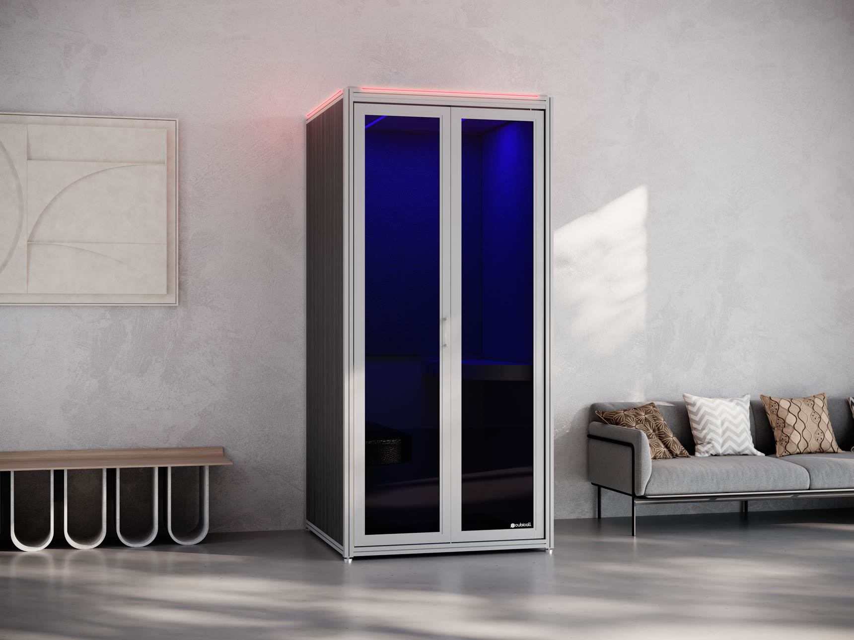 UV Phone Booth for After-use Disinfection